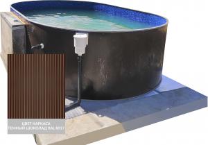 Сборный овальный бассейн ЛАГУНА 40020001 400х200х125 (шоколад)