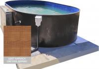 Сборный овальный бассейн ЛАГУНА 48827003 490x274x125 (светлое дерево)