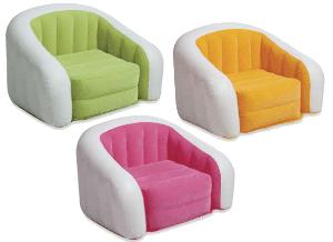 68571 Кресло флокирован. 97х76х69см, 3 цвета в ассорт., от 6лет