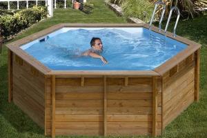 Круглый деревянный бассейн 412x119 см VANILLE GRE 790083